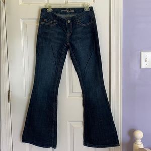 American Eagle Bell Bottom Blue Jeans